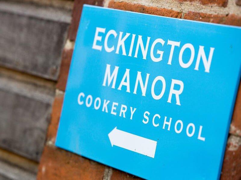 Eckington Manor Cookery School Sign