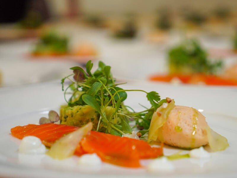 Eckington Manor Food Starters Salmon