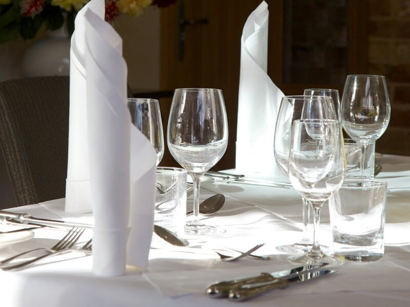 Eckington Manor Wedding Tableware